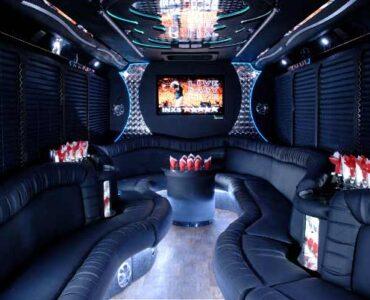 18 people Tonawanda party bus interior