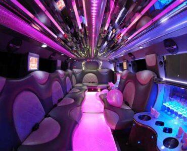 Cadillac Escalade East Aurora limo interior