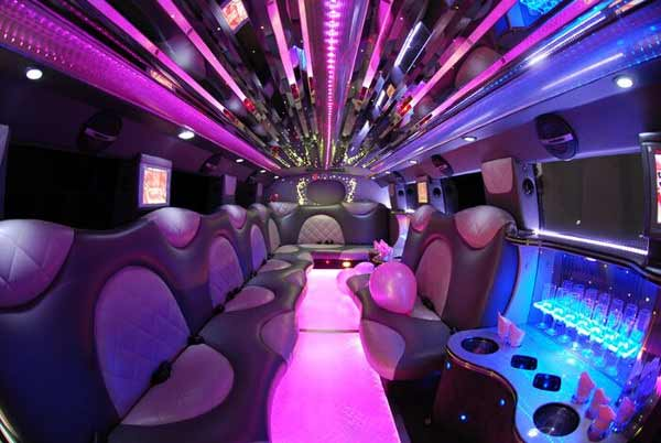 Cadillac Escalade Greece limo interior