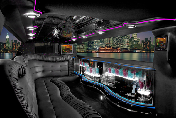 Chrysler 300 Amherst limo interior