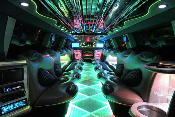 Hummer limo East Aurora interior