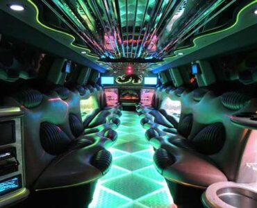 Hummer limo Rochester interior