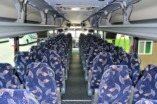 40 person charter bus Amherst